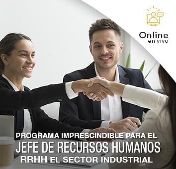 Programa Imprescindible para el JEFE DE RECURSOS HUMANOS-RRHH en el Sector Industrial