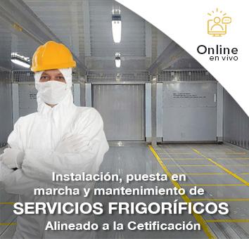 Instalación, puesta en marcha y mantenimiento de servicios Frigoríficos Alineado a la certificación - Online en VIVO-