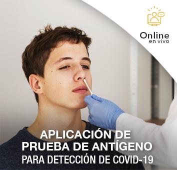 Aplicación de Prueba de Antígeno para Detección de COVID-19