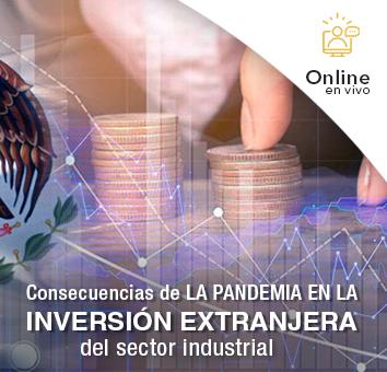 Consecuencias de LA PANDEMIA EN LA INVERSIÓN EXTRANJERA del sector industrial -Online en VIVO-