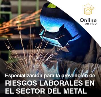 Especialización para la prevención de RIESGOS LABORALES EN EL SECTOR DEL METAL -Online en VIVO-