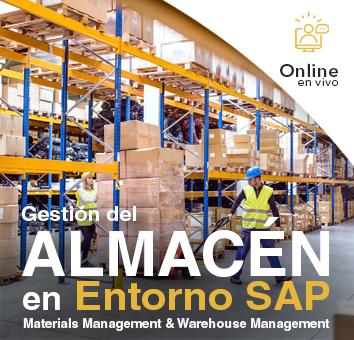 GESTIÓN DEL ALMACÉN EN ENTORNO SAP - Online en Vivo-