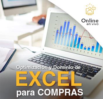 Optimización y dominio de Excel para COMPRAS - Online en Vivo -