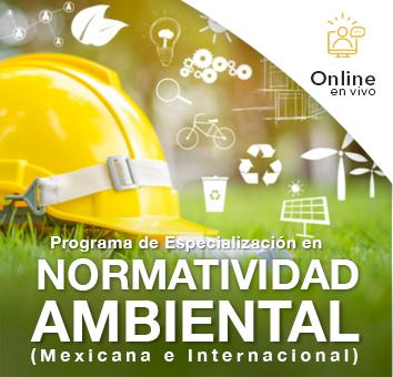 PROGRAMA DE ESPECIALIZACIÓN EN NORMATIVIDAD AMBIENTAL- ONLINE EN VIVO