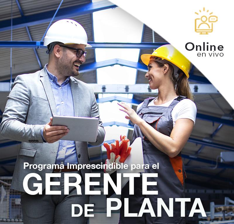 Programa Imprescindible para el GERENTE DE PLANTA- Online en VIVO -
