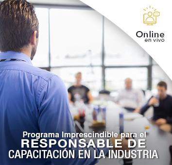 Programa Imprescindible para el Responsable de CAPACITACIÓN en la Industria- Online en VIVO