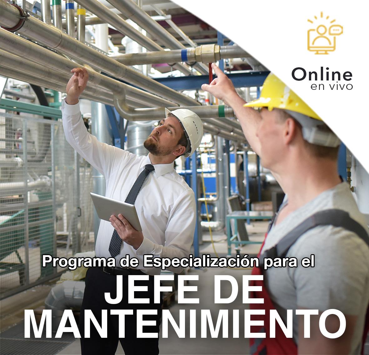 Programa de Especializacion para el Jefe de MANTENIMIENTO-Online en VIVO-