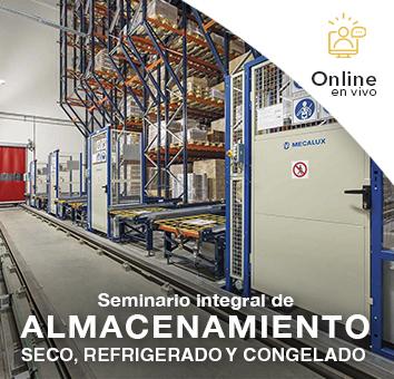 Seminario integral de ALMACENAMIENTO SECO, REFRIGERADO Y CONGELADO -Online en VIVO-