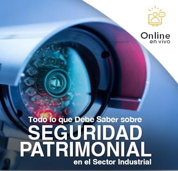 Todo lo que debe saber sobre SEGURIDAD PATRIMONIAL en el Sector Industrial -Online en VIVO-
