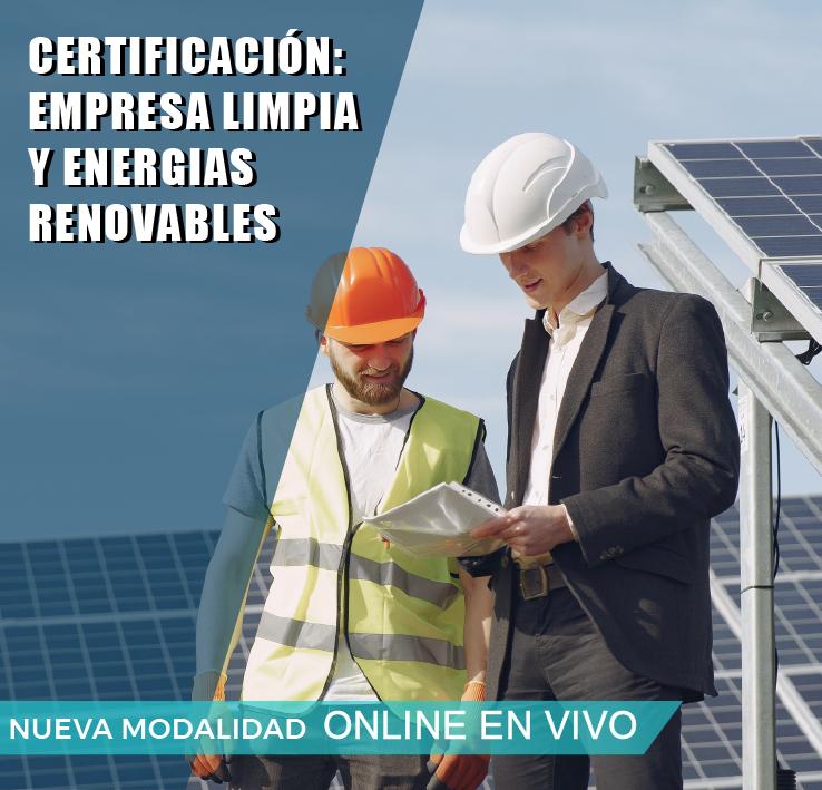CERTIFICACIÓN: EMPRESA LIMPIA Y ENERGIAS RENOVABLES