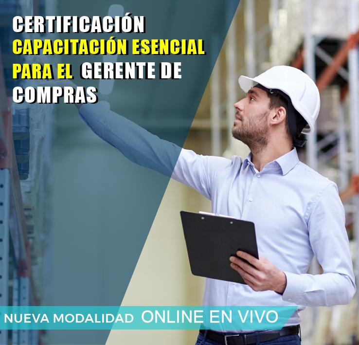 CERTIFICACION: CAPACITACION ESENCIAL PARA EL DEPARTAMENTO DE COMPRAS.