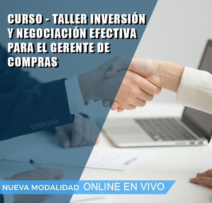INVERSION Y NEGOCIACION EFECTIVA PARA EL GERENTE DE COMPRAS